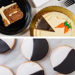 Black and White Cookies + Mini Cake