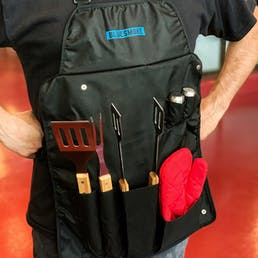 Grill Master Apron with Grilling Tools