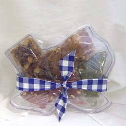 Texas Shaped Assorted Nuts N Brittles