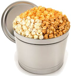 Gourmet White Chocolate, Cheese, and Salted Butter Popcorn Mix