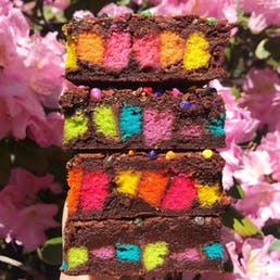 Rainbow Cookie Brownies - 6 Pack