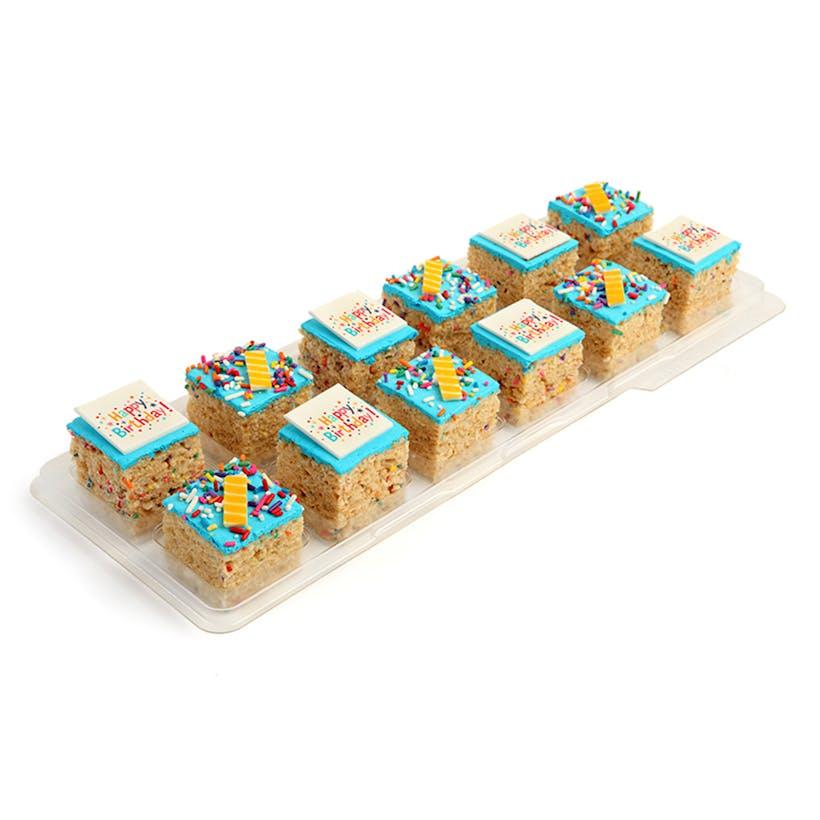 Happy Birthday Rice Krispie Treats - 12 Pack