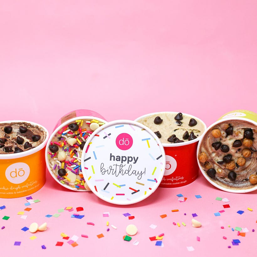 Birthday Gift Cookie Dough 4 Pack