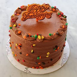 Thanksgiving Double Chocolate Cake