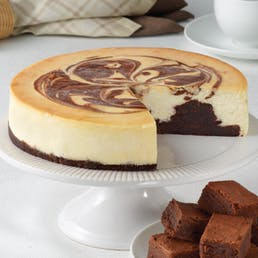 Brownie Marble Swirl Cheesecake
