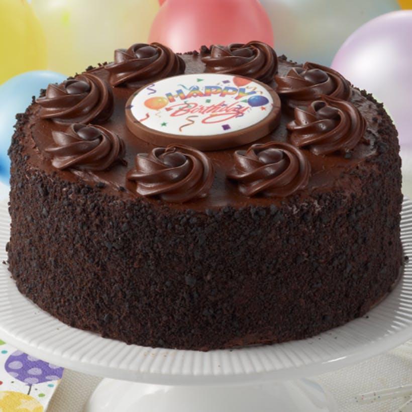 Happy Birthday Chocolate Fudge Layer Cake