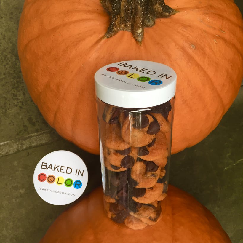 Mini Halloween Chocolate Chip Cookie Gift Tubes - 4 Pack