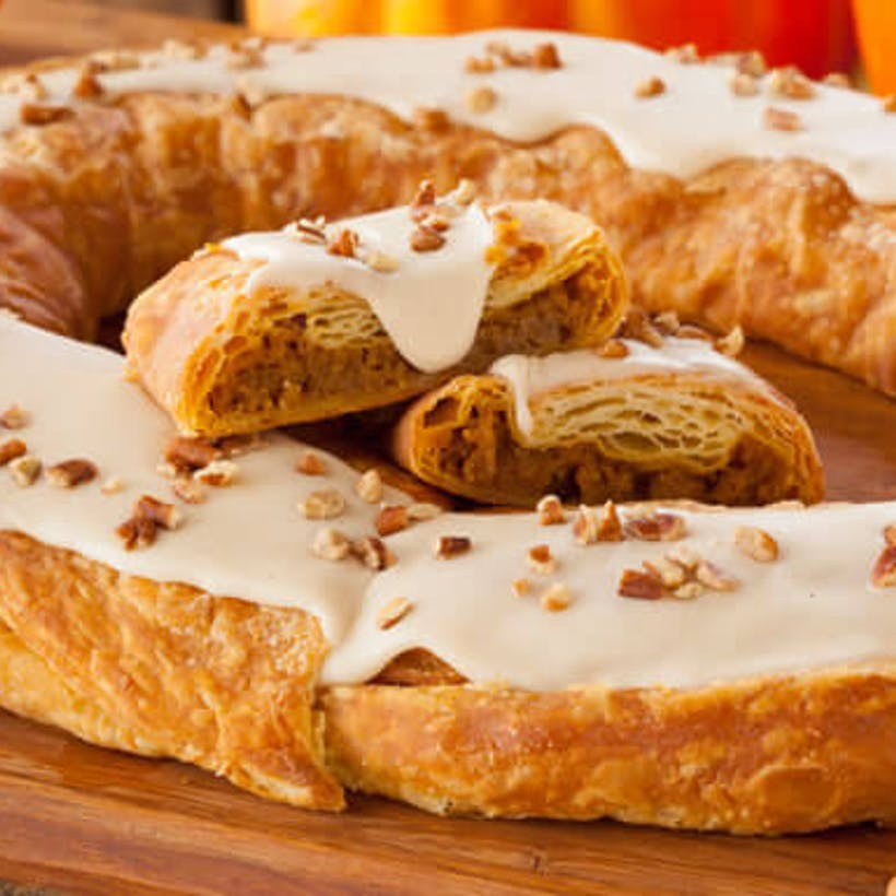 Pumpkin Caramel Kringle (Kosher) - 2 Pack