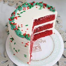 Red Velvet Holiday Cake