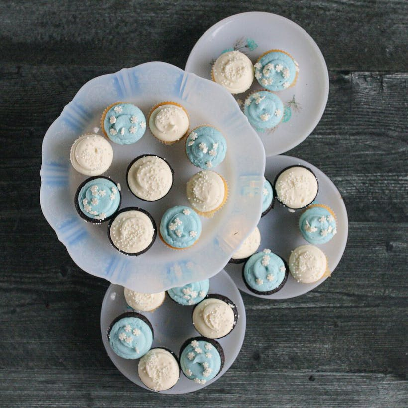 Winter Mini Cupcakes