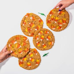 GIANT Peanut Butter Candy Corn Cookies - 5 Pack