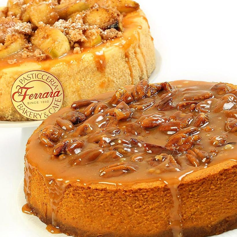 New York Pumpkin Pecan Cheesecake + Apple Cheesecake