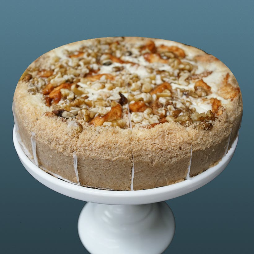 Apple Walnut Cheesecake -9""