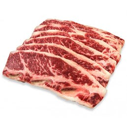 "USDA Prime Black Angus Kalbi/Flanken, 1/3"" thick (1.5 lbs)"