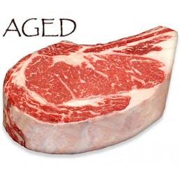 Dry-Aged USDA Prime Black Angus Bone-In Rib Steak, Center Cut