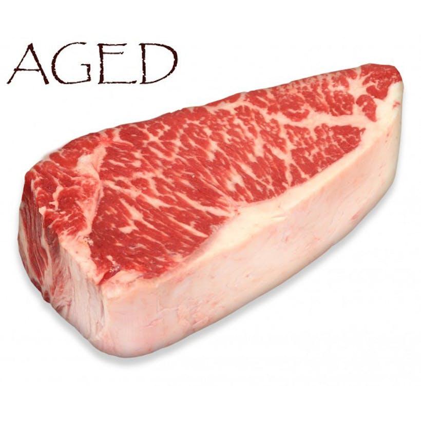 Dry-Aged USDA Prime Black Angus Boneless NY Strip Steak, Center Cut