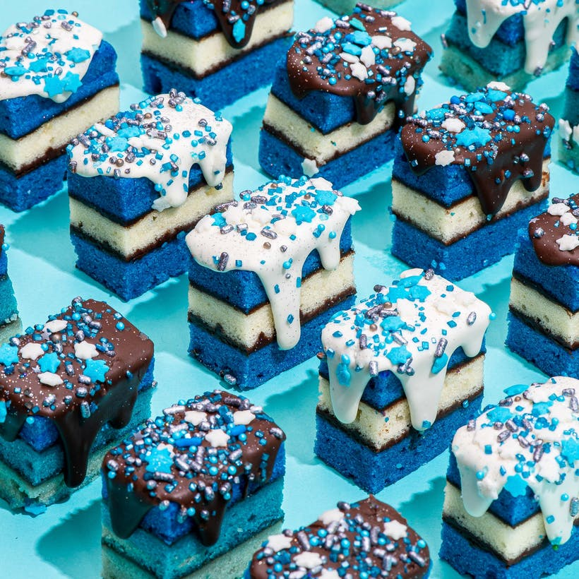 Hanukkah Rainbow Cookies - 20 Pack