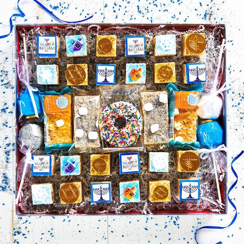 Deluxe Rice Krispie Treats Hanukkah Gift Box