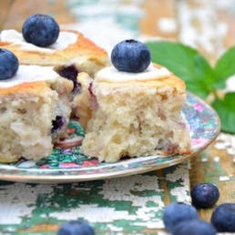 Iced Blueberry Biscuits
