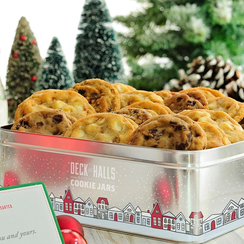 Deck the Halls Holiday Cookies Tin – 18 Pack