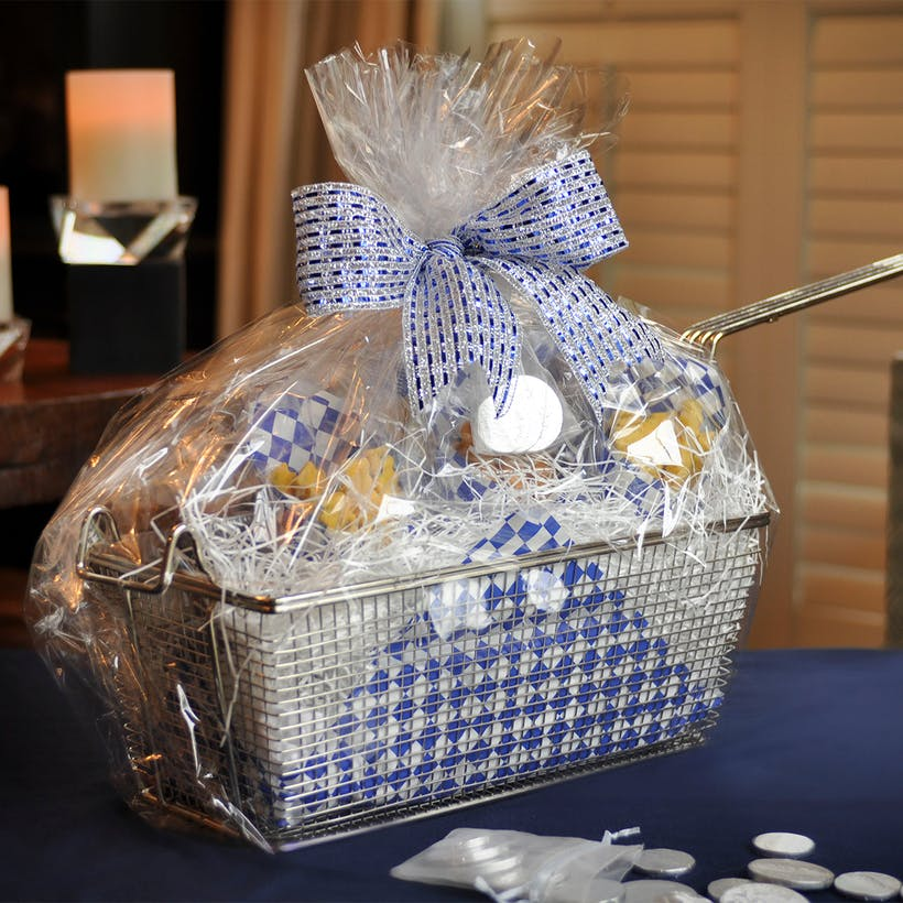 Hanukkah Deep Fryer Cookie Gift Basket - 8 Cartons