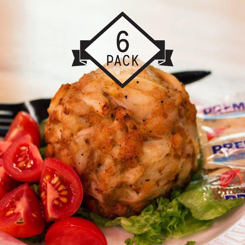 Jumbo Lump Crab Cakes - 6 Pack