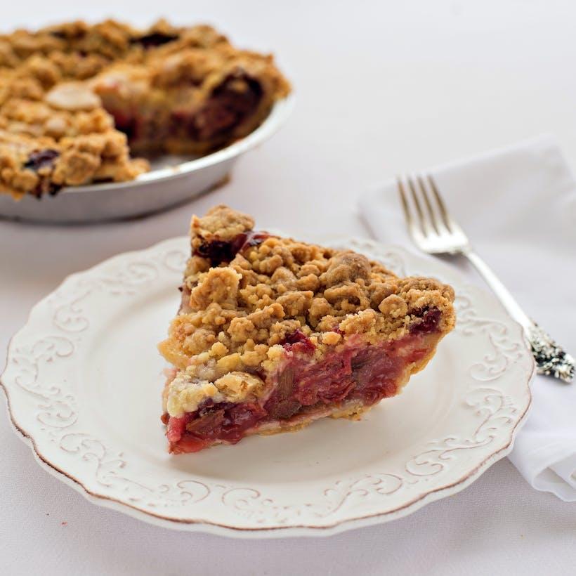 North Bar Strawberry Rhubarb Crumb Pie