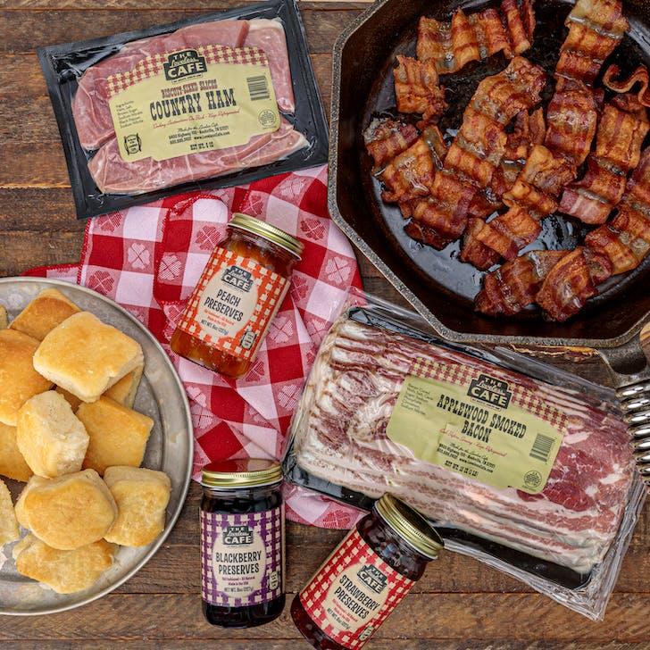 Heat N' Eat Biscuits, Bacon, Ham & Preserves