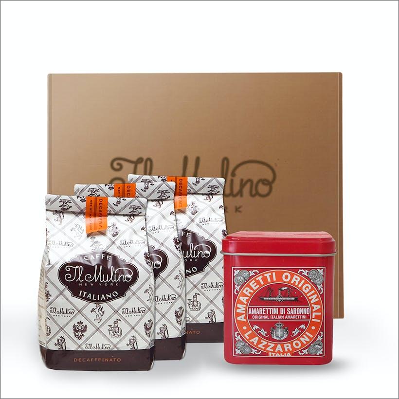Coffee + Amaretti Tin Gift Basket