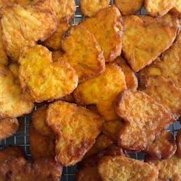 Bite Size Heart Shaped Sweet Potato Latke - 48 Pack