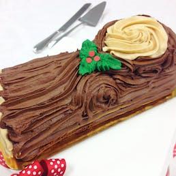 Carolina Christmas Yule Log Cake